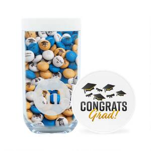 Congrats Grad Gift Jar & Personalized M&M'S