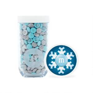 Winter Gifting Jar with Personalized M&M'