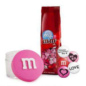 Pink Stack 'm & Valentine M&M'S Gift Set